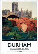 Durham Cathedral. LNER Vintage Travel Poster by Fred Taylor